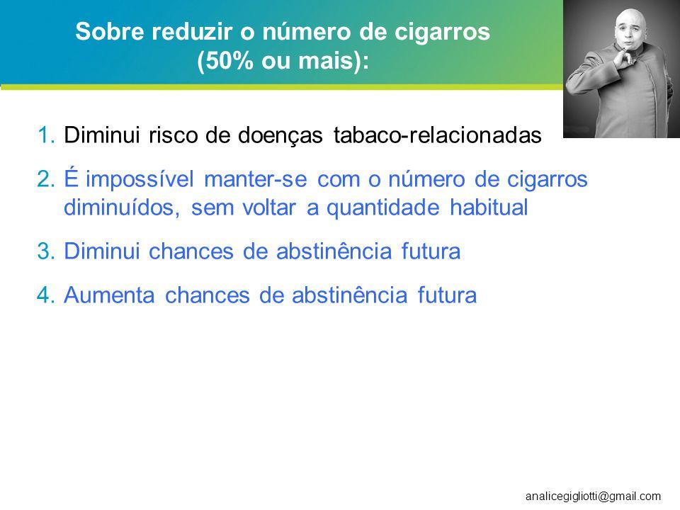Sobre reduzir o número de cigarros (50% ou mais):