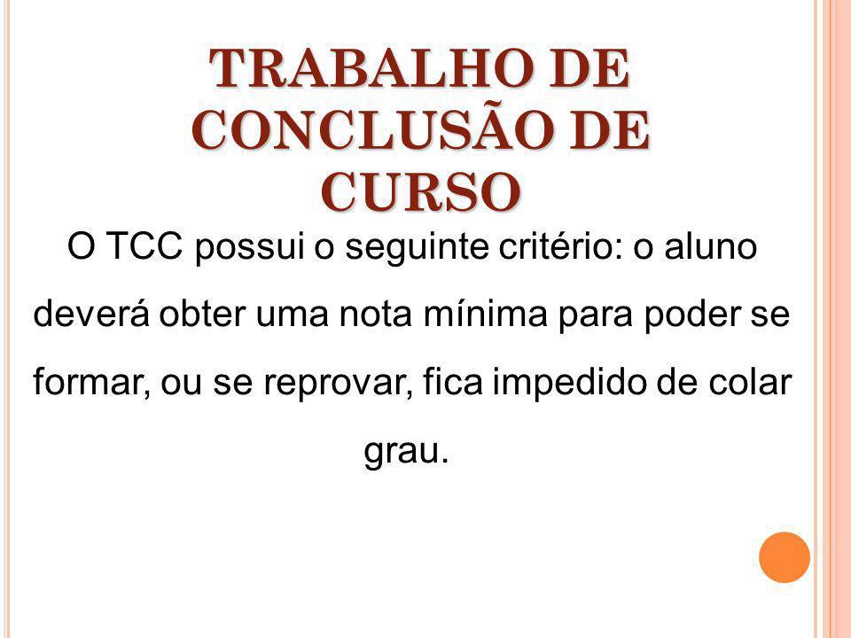 TRABALHO DE CONCLUSÃO DE CURSO