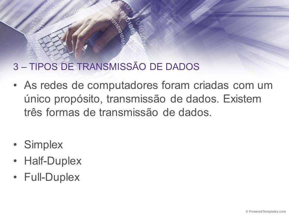 3 – TIPOS DE TRANSMISSÃO DE DADOS