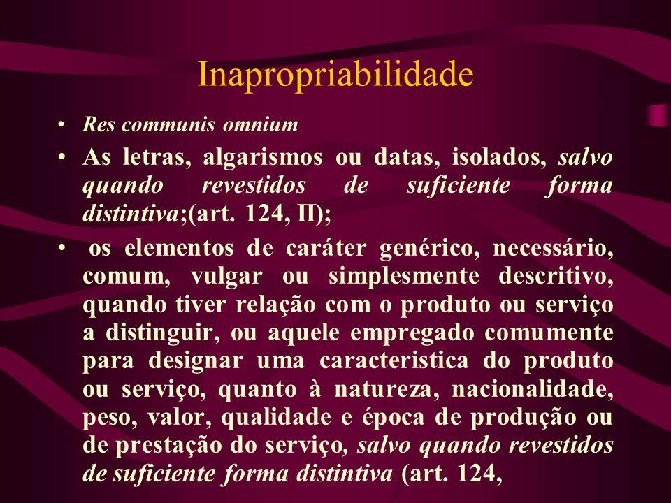Inapropriabilidade Res communis omnium.