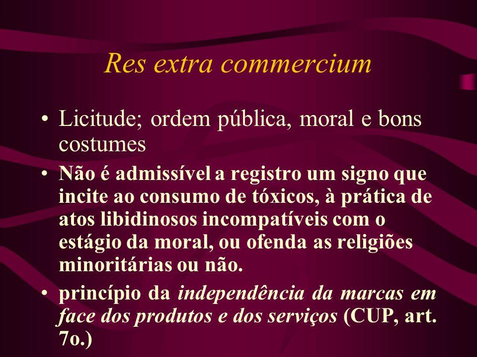Res extra commercium Licitude; ordem pública, moral e bons costumes