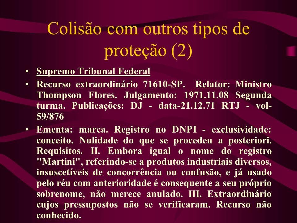 Colisão com outros tipos de proteção (2)