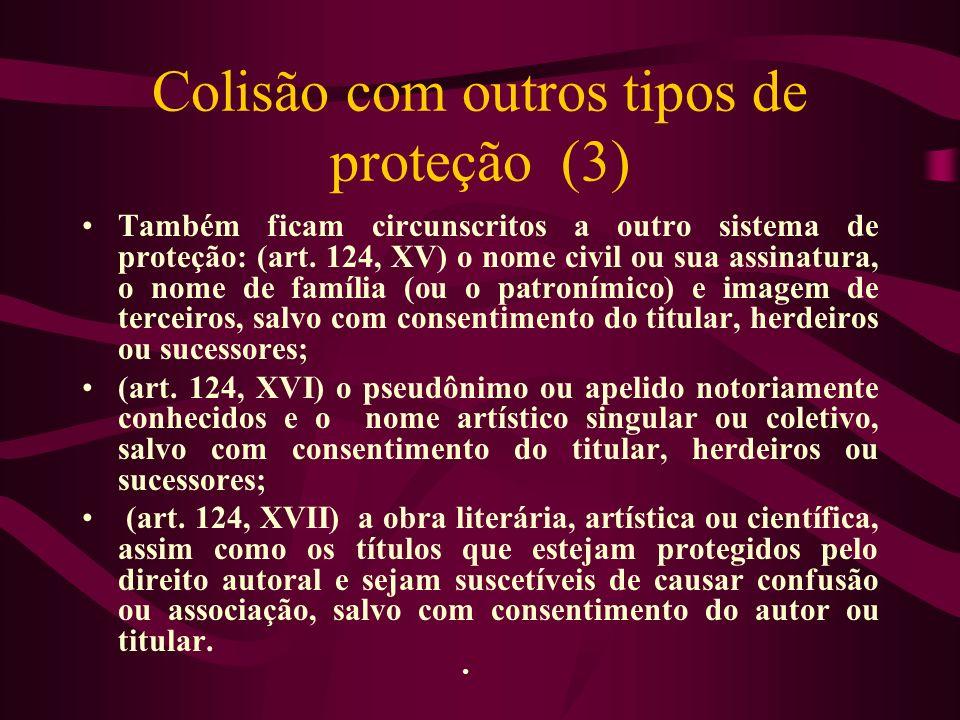 Colisão com outros tipos de proteção (3)