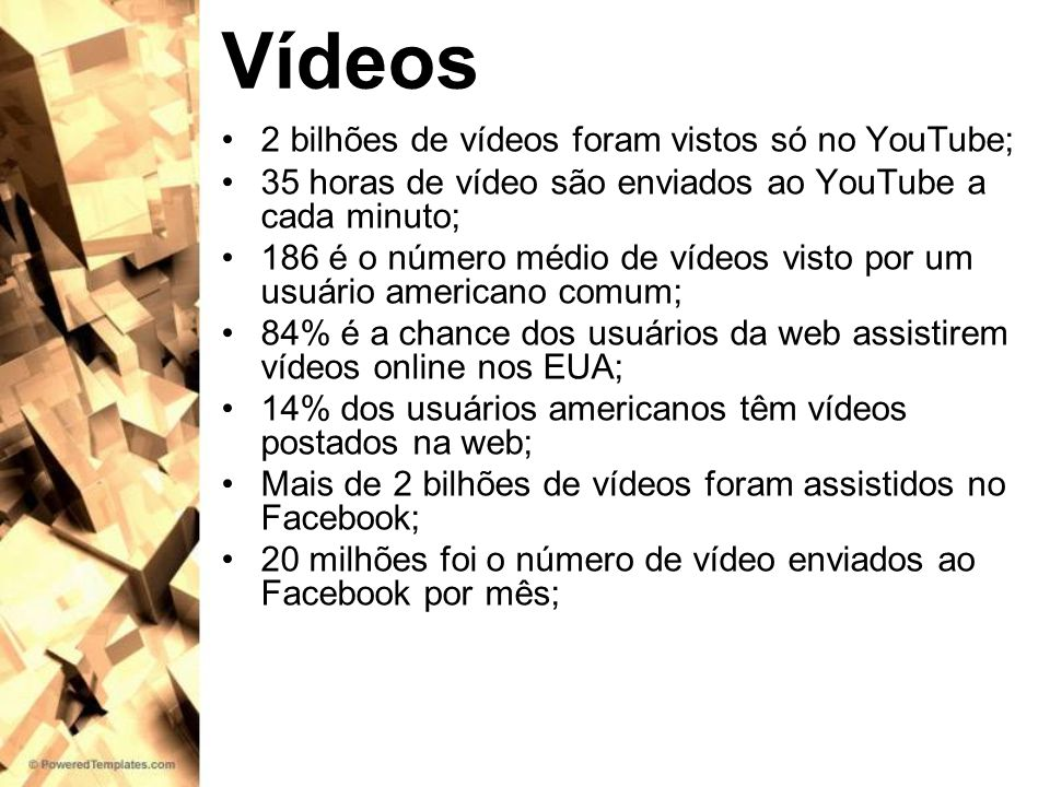 Vídeos 2 bilhões de vídeos foram vistos só no YouTube;