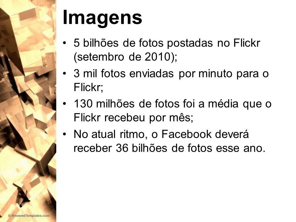 Imagens 5 bilhões de fotos postadas no Flickr (setembro de 2010);