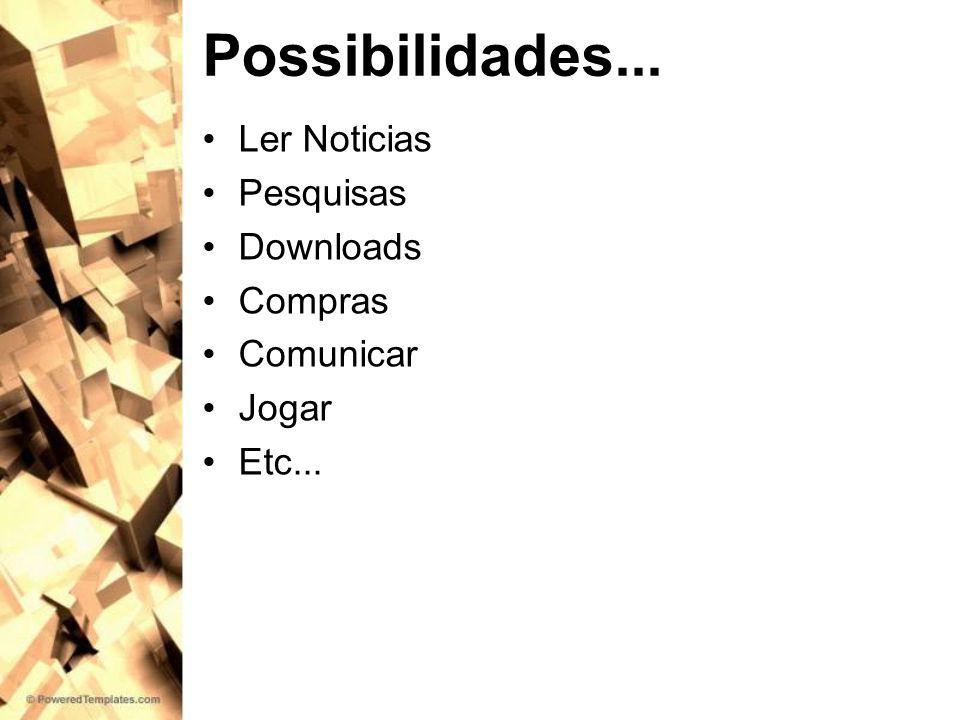 Possibilidades... Ler Noticias Pesquisas Downloads Compras Comunicar