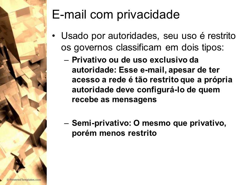 E-mail com privacidade