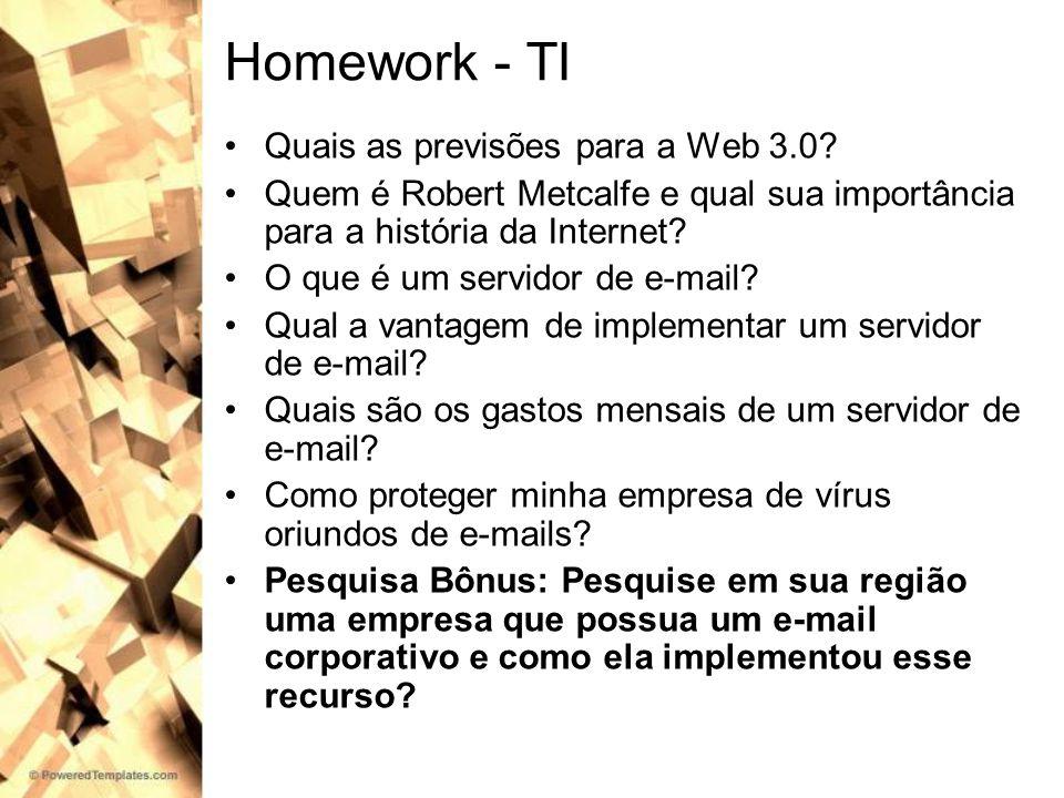 Homework - TI Quais as previsões para a Web 3.0