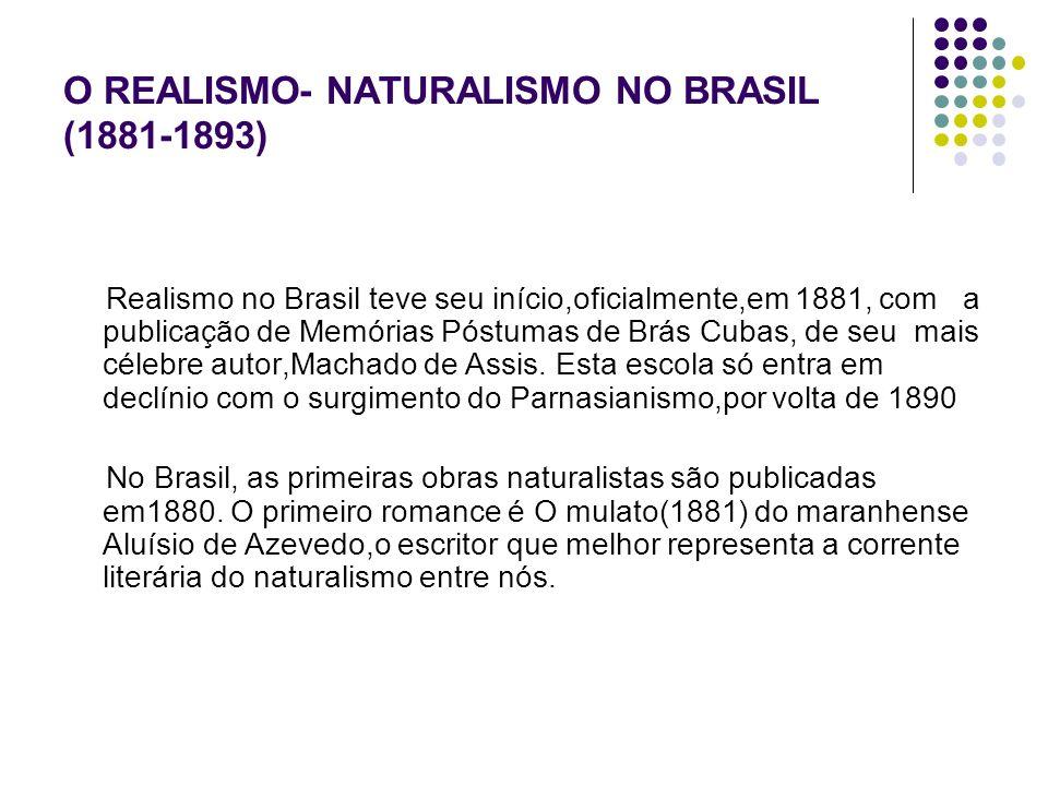 O REALISMO- NATURALISMO NO BRASIL (1881-1893)
