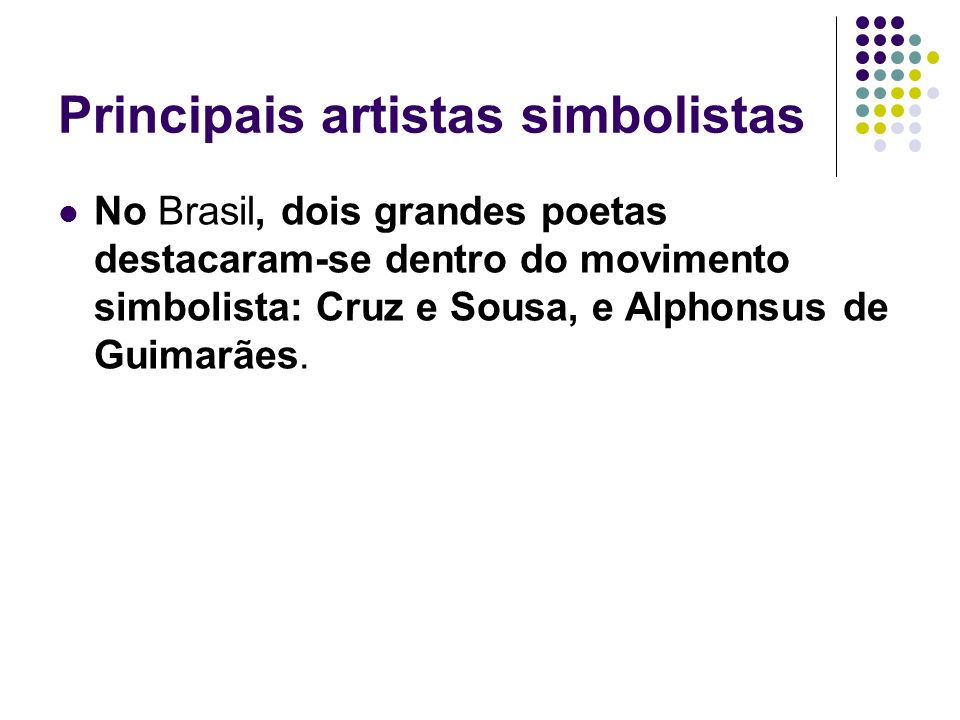 Principais artistas simbolistas