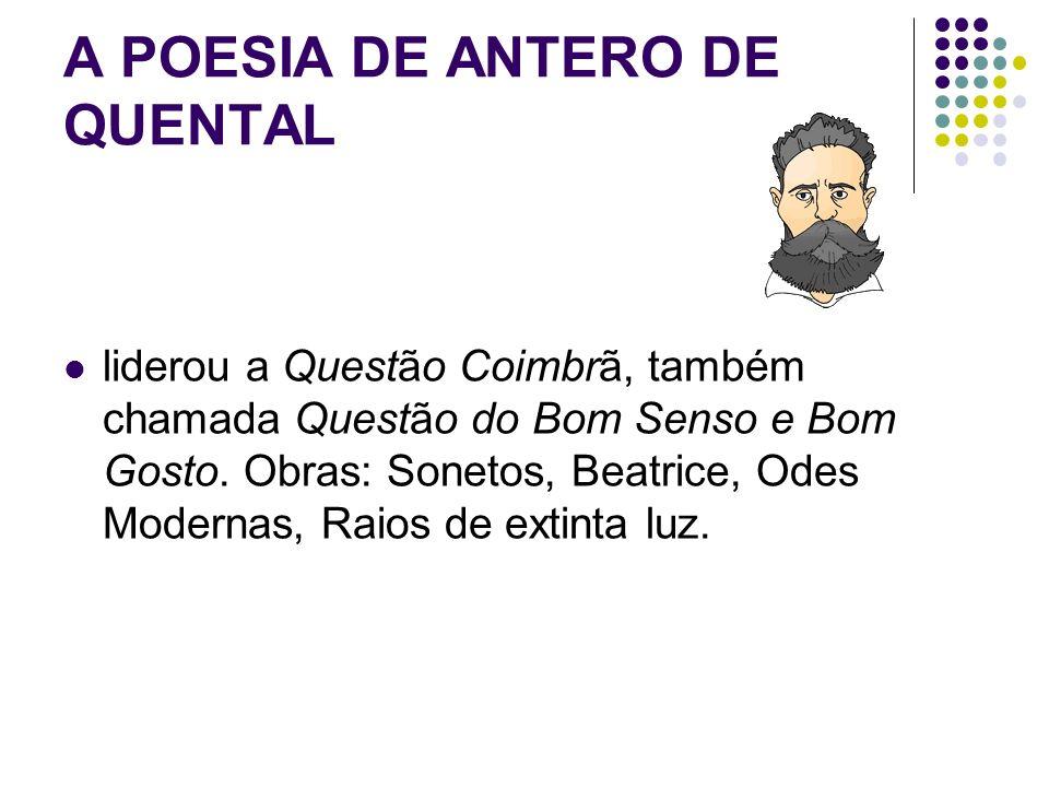 A POESIA DE ANTERO DE QUENTAL