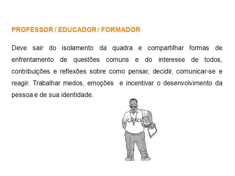 PROFESSOR / EDUCADOR / FORMADOR