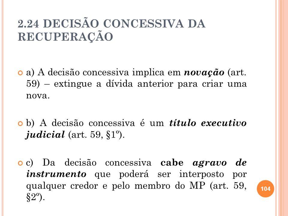 2.24 DECISÃO CONCESSIVA DA RECUPERAÇÃO