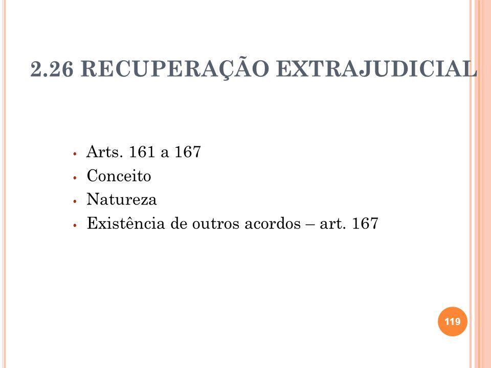 2.26 RECUPERAÇÃO EXTRAJUDICIAL
