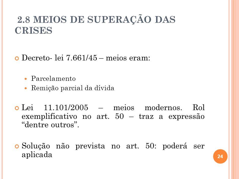 2.8 MEIOS DE SUPERAÇÃO DAS CRISES