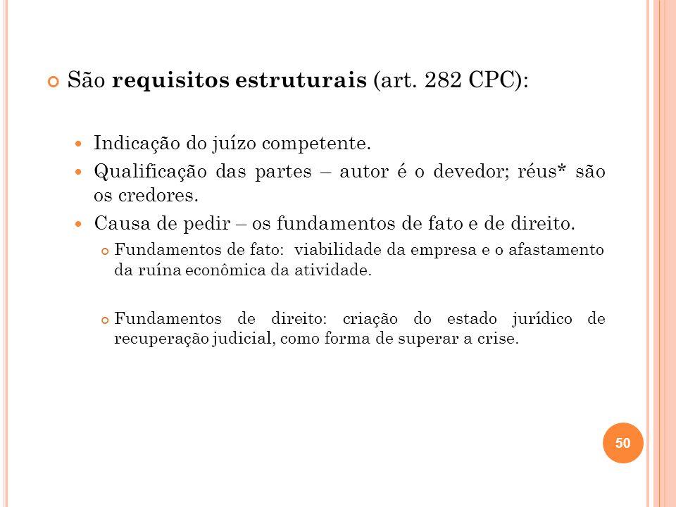 São requisitos estruturais (art. 282 CPC):