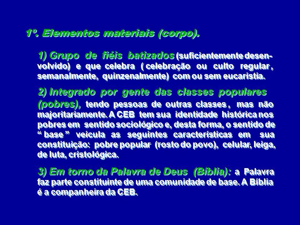 1º. Elementos materiais (corpo).
