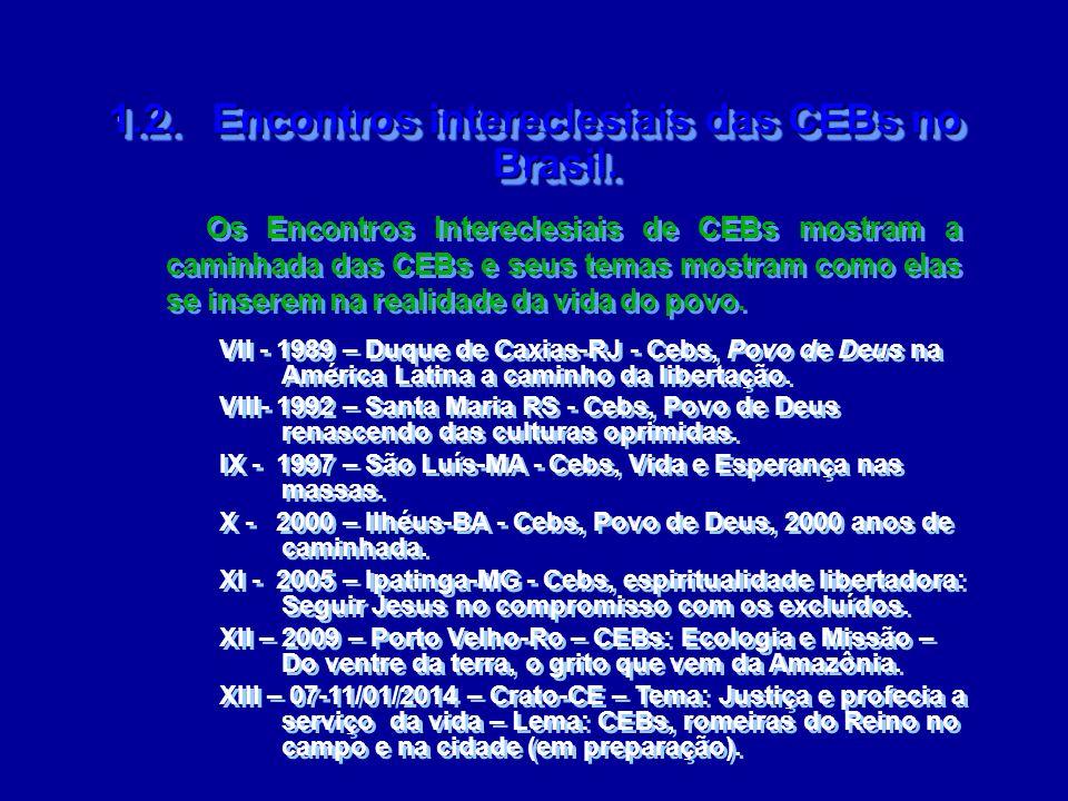 1.2. Encontros intereclesiais das CEBs no Brasil.