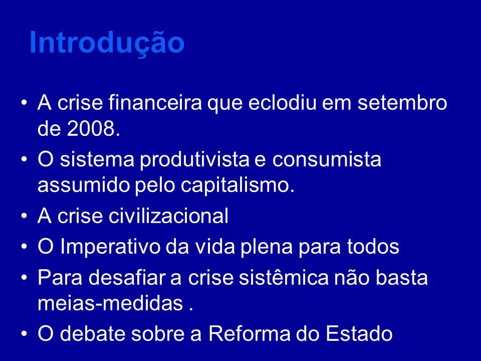 Introdução A crise financeira que eclodiu em setembro de 2008.