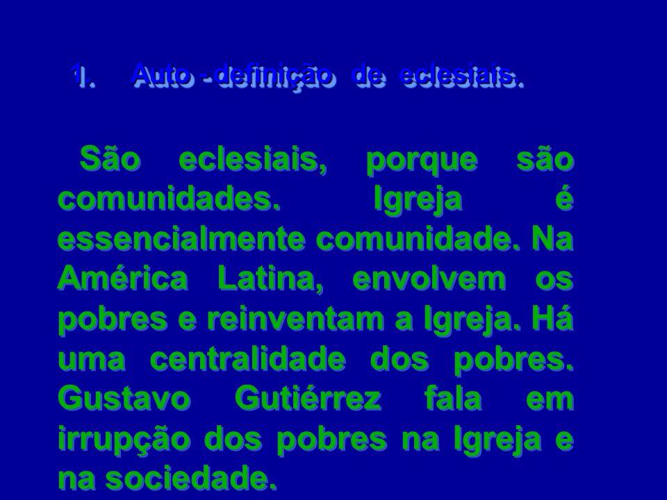 1. Auto - definição de eclesiais.
