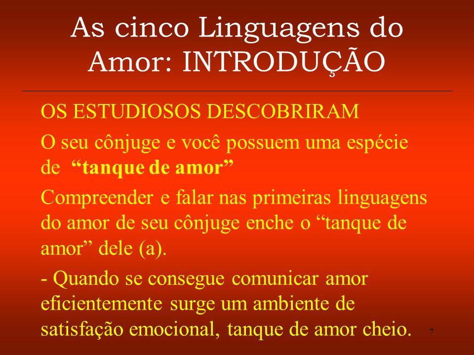 As cinco Linguagens do Amor: INTRODUÇÃO