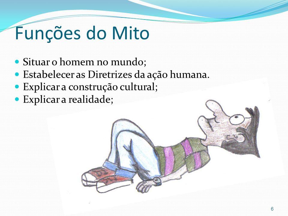 Funções do Mito Situar o homem no mundo;