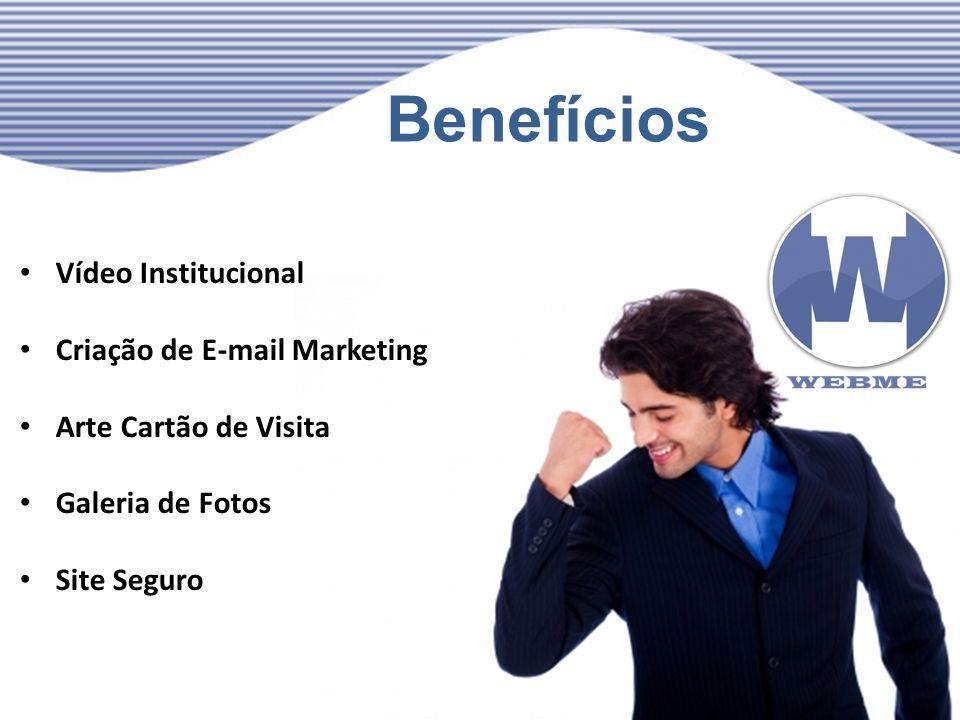Benefícios Vídeo Institucional Criação de E-mail Marketing