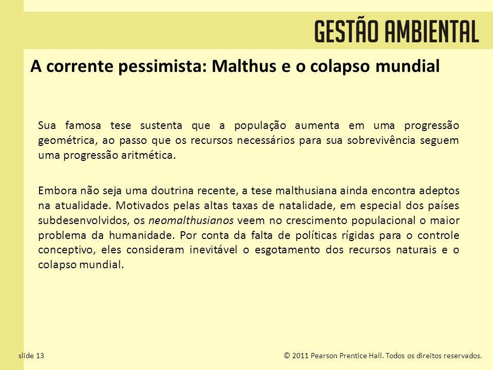 A corrente pessimista: Malthus e o colapso mundial