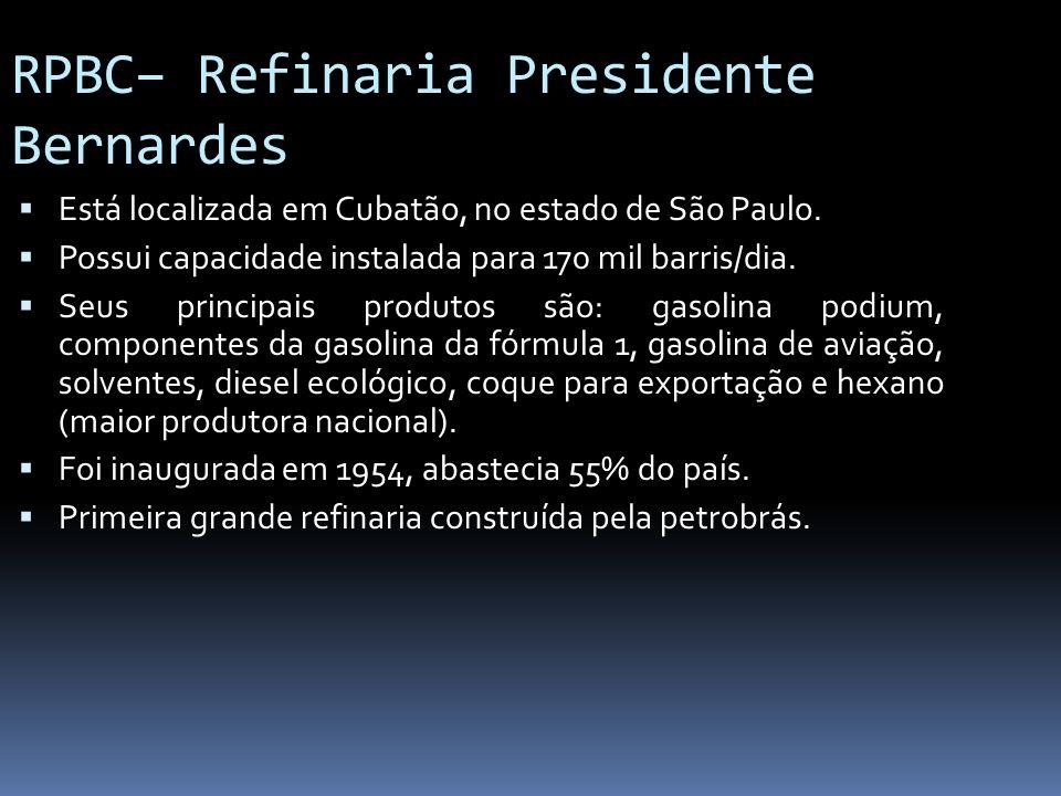 RPBC– Refinaria Presidente Bernardes