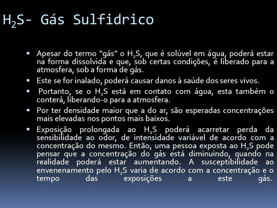 H2S- Gás Sulfidrico
