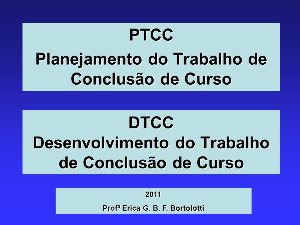 DTCC Desenvolvimento do Trabalho de Conclusão de Curso