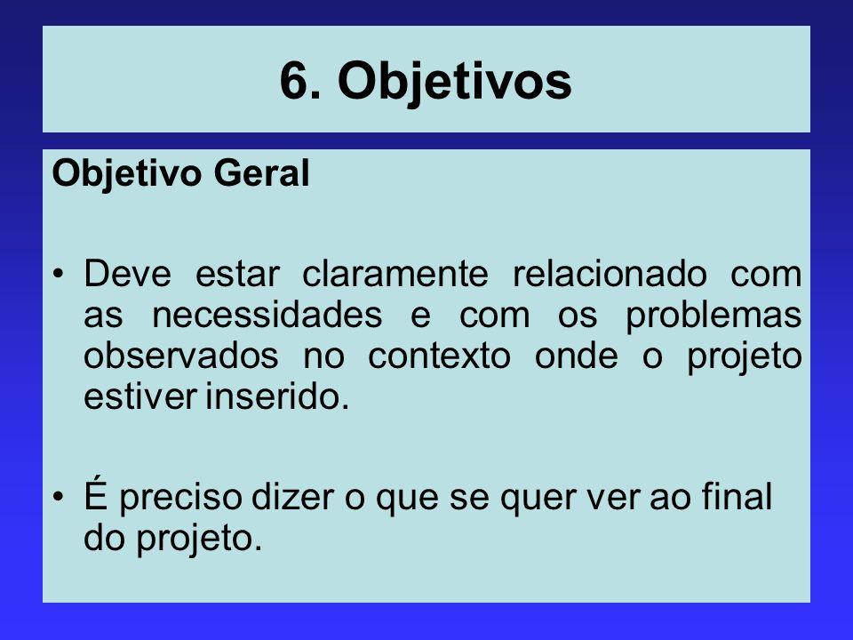 6. Objetivos Objetivo Geral