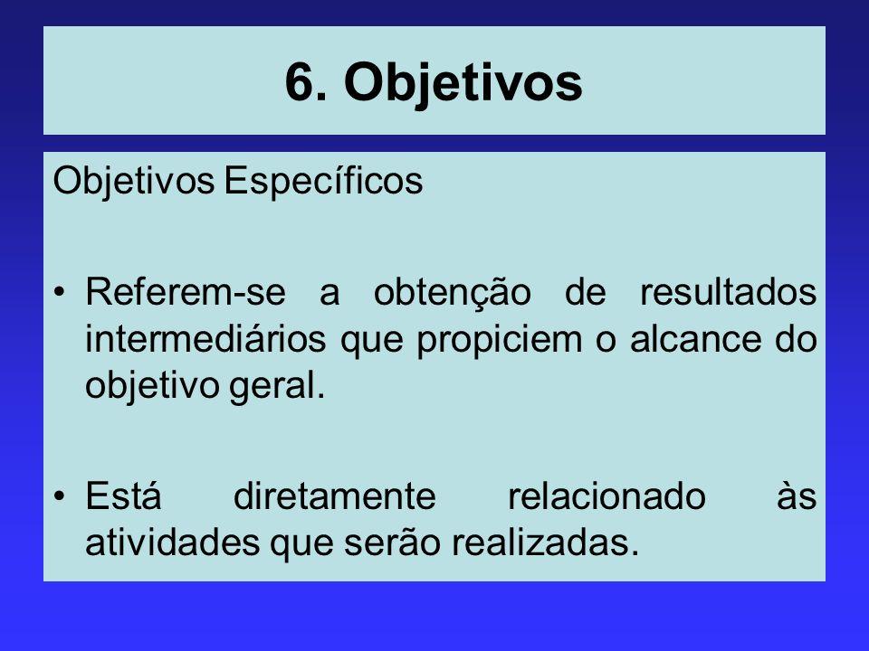 6. Objetivos Objetivos Específicos