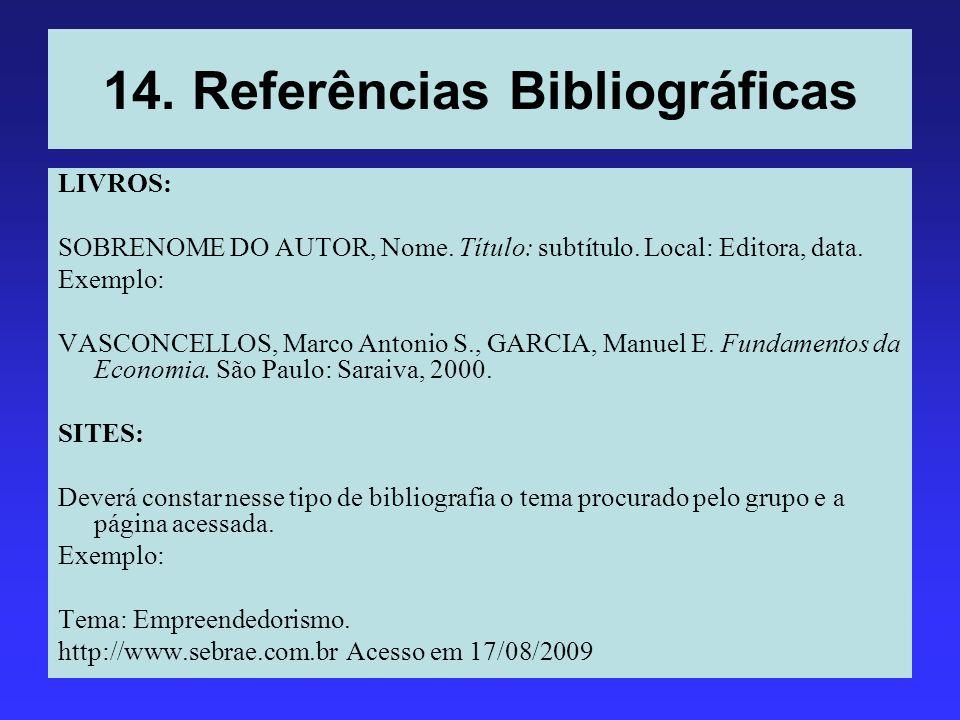 14. Referências Bibliográficas