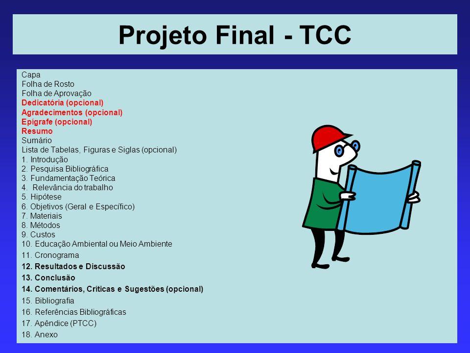 Projeto Final - TCC Capa Folha de Rosto Folha de Aprovação