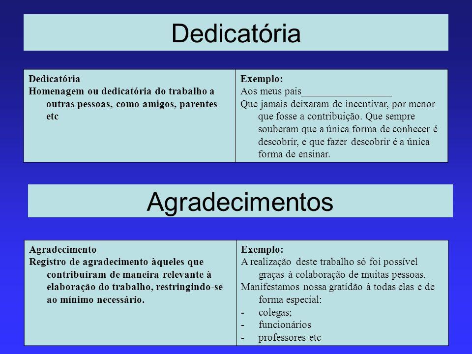 Dedicatória Agradecimentos Dedicatória