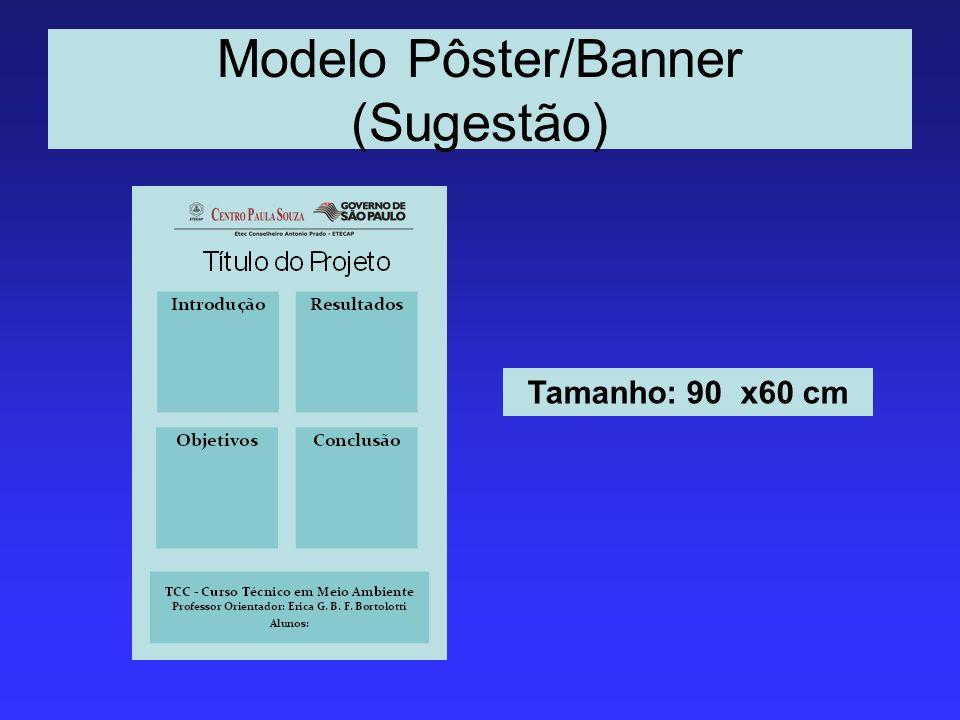 Modelo Pôster/Banner (Sugestão)