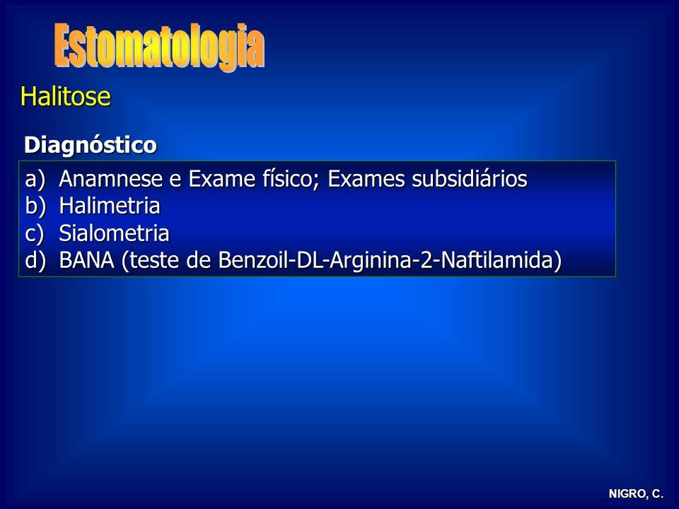 Estomatologia Halitose Diagnóstico