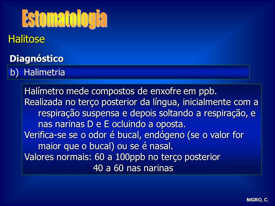 Estomatologia Halitose Diagnóstico Halimetria