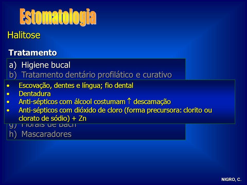 Estomatologia Halitose Tratamento Higiene bucal