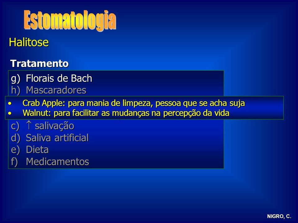 Estomatologia Halitose Tratamento Florais de Bach Mascaradores