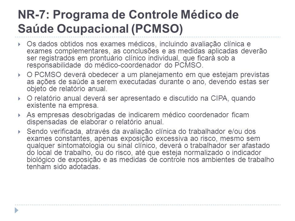 NR-7: Programa de Controle Médico de Saúde Ocupacional (PCMSO)