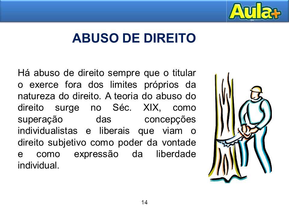 ABUSO DE DIREITO