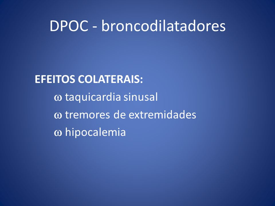 DPOC - broncodilatadores