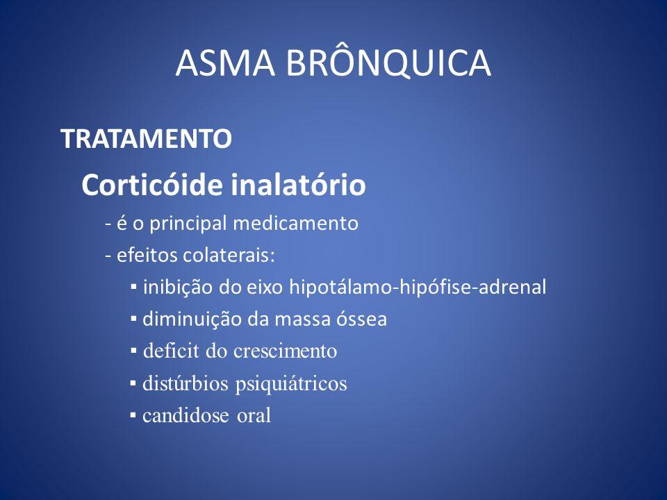 ASMA BRÔNQUICA TRATAMENTO Corticóide inalatório
