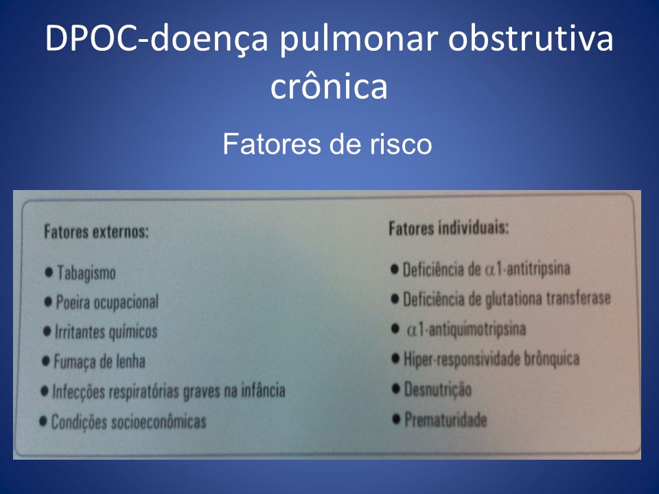 DPOC-doença pulmonar obstrutiva crônica