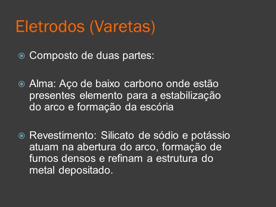 Eletrodos (Varetas) Composto de duas partes: