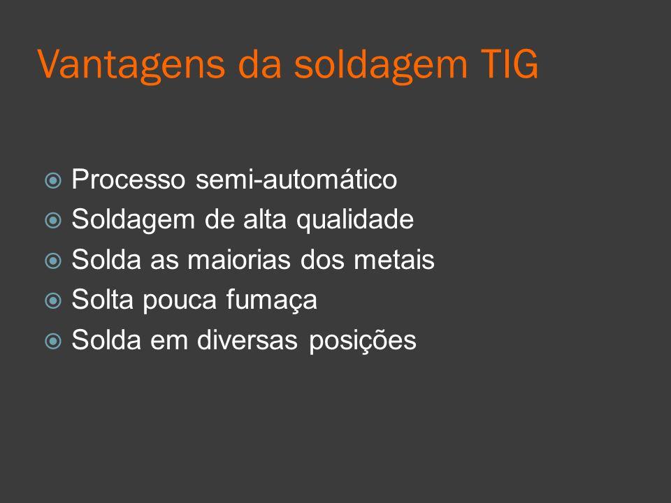 Vantagens da soldagem TIG