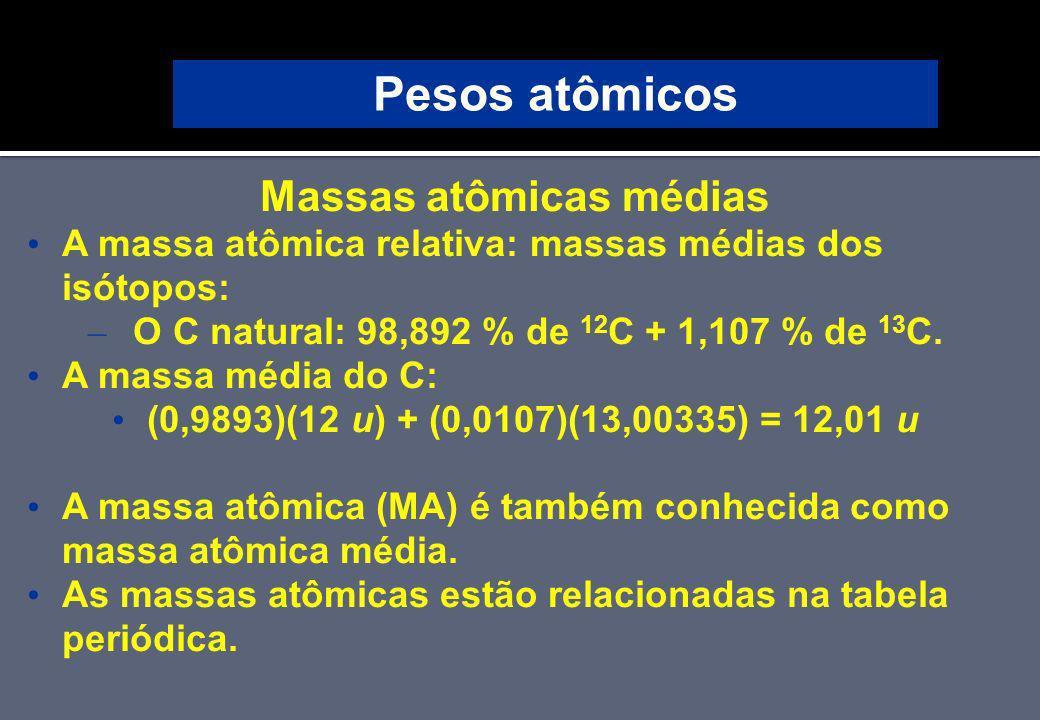 Massas atômicas médias