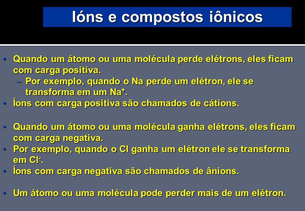 Ións e compostos iônicos